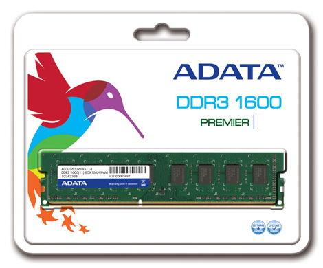 Модуль памяти DDR3 4096Mb 1600MHz ADATA AD3U1600W4G11-B