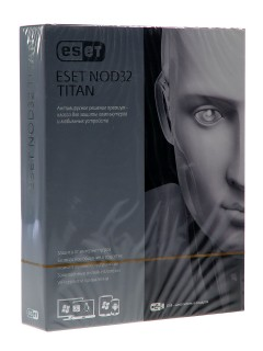 Антивирус ESET NOD32 TITAN version 2 – 1год/3ПК и 1 мобильного устройства NOD32-EST-NS(BOX2)-1-1