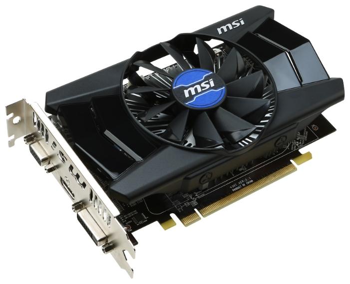 Видеокарта Radeon MSI Radeon R7 250 1050Mhz PCI-E 3.0 2048Mb 1800Mhz 128 bit DVI HDMI HDCP R7 250 2GD3 OC