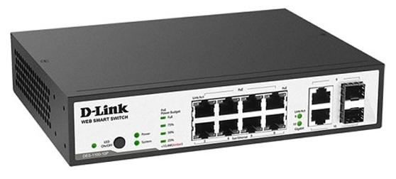 Коммутатор (switch) D-link DES-1100-10P/A1A