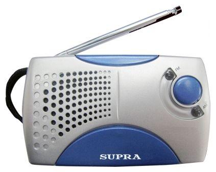 Радиоприемник SUPRA ST-113, серебристый с голубым ST-113 silver/blue