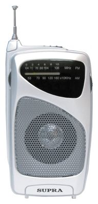 Радиоприемник SUPRA ST-114, серебристый ST-114 silver
