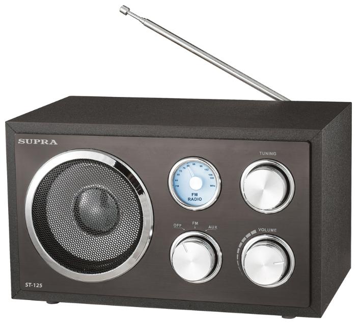 Радиоприемник SUPRA ST-125 черный ST-125 black