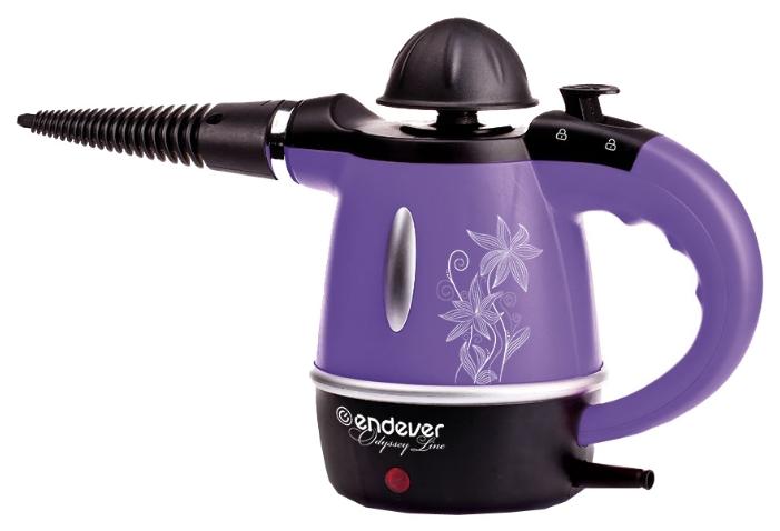 Пароочиститель-отпариватель ENDEVER Odyssey Q-435, чёрный/фиолетовый