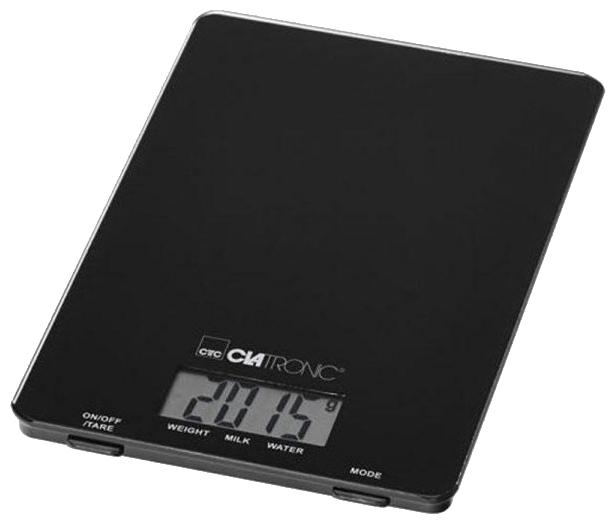 Кухонные весы Clatronic KW-3626, черные KW-3626 Glas schwarz