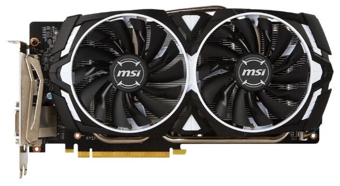 Видеокарта GeForce MSI GeForce GTX 1060 1544Mhz PCI-E 3.0 3072Mb 8008Mhz 192 bit DVI 2xHDMI HDCP, ARMOR 3G OCV1 GTX 1060 ARMOR 3G OCV1