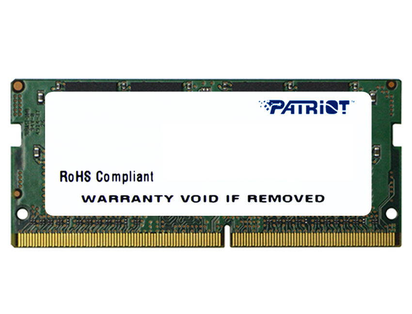 Модуль памяти Patriot PSD416G21332S (DDR4, 16Gb, 2133MHz, CL15, SO-DIMM)