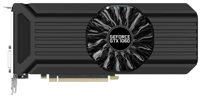 Видеокарта GeForce Palit GeForce GTX 1060 1506Mhz PCI-E 3.0 6144Mb 8000Mhz 192 bit DVI HDMI HDCP StormX, NE51060015J9-1061F