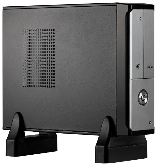 Корпус Exegate MI-206L 400W, черный/серебристый 269647