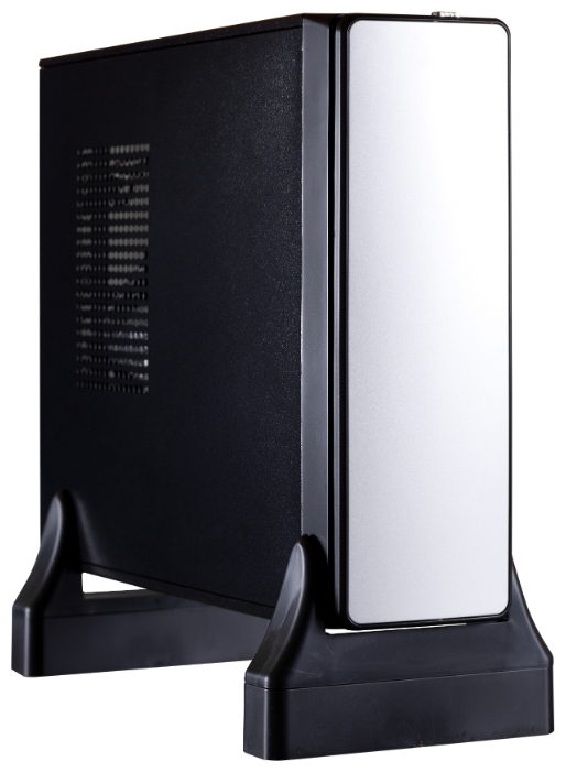 Корпус Exegate MI-213L 400W, черный-серебристый