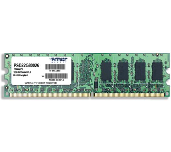 Модуль памяти Patriot-Memory PSD22G80026 (2048 Mb, 800 Mhz)