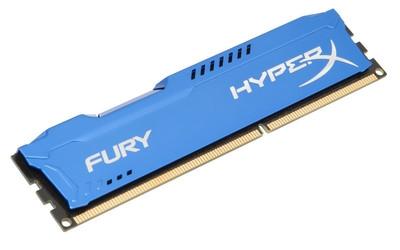 Модуль памяти Kingston HX318C10FR/8 (1 x 8 Гб, DDR3 1866 МГц, DIMM, CL10), синий HX318C10F/8