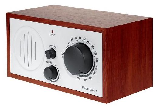 Радиоприемник Rolsen RFM-110, бело-коричневый