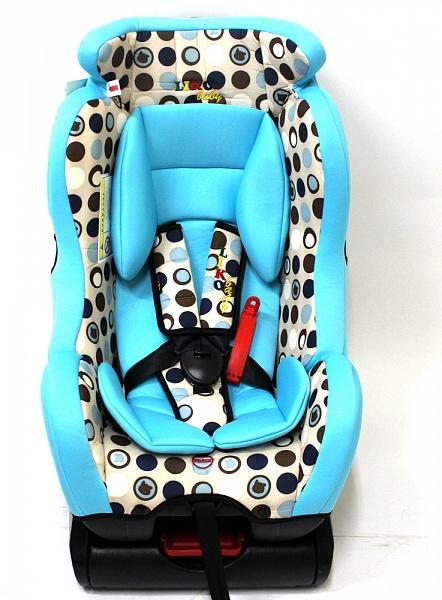 Автокресло Liko-Baby LB 718, голубое с кругами