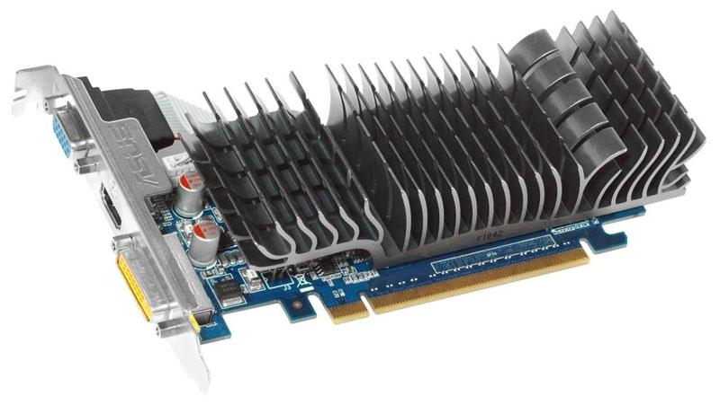 Видеокарта GeForce ASUS GeForce 210 589Mhz PCI-E 2.0 1024Mb 1200Mhz 64 bit DVI HDMI HDCP Silent (EN210 SILENT/DI/1GD3/V2 LP) EN210