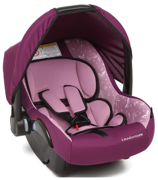 Автокресло Leader-Kids Вояж, фиолетово+розовое с рисунком id: 28741