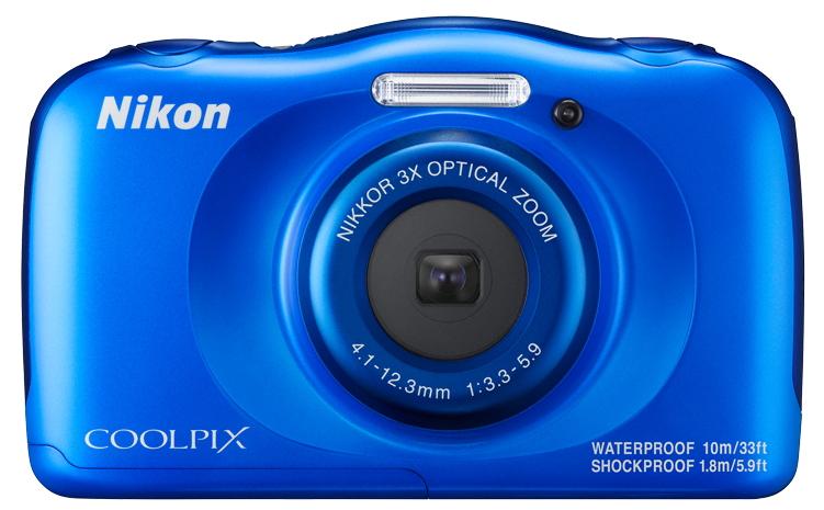 Цифровой фотоаппарат Nikon Coolpix W100, синий VQA011K001