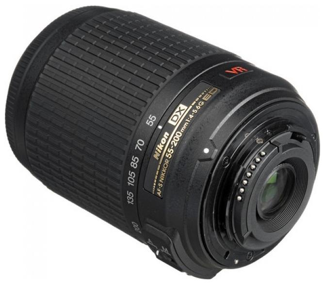 Объектив для фото Nikon 55-200mm f/4-5.6G AF-S DX VR IF-ED Zoom Nikkor JAA798DA