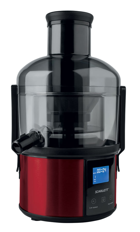 Соковыжималка Scarlett SC-JE50S32, красно-черная