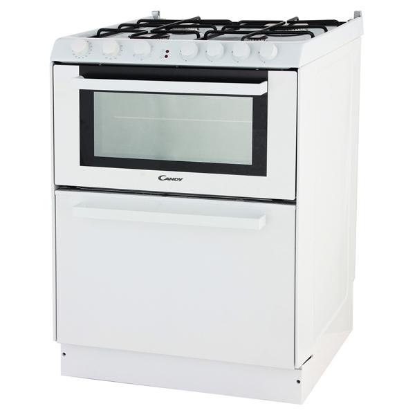 Плита Candy Trio 9501/1 W (со встроенной посудомоечной машиной), белая