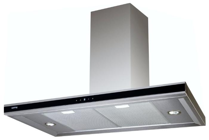 Вытяжка Korting KHC 6770 X, нержавеющая сталь/черное стекло