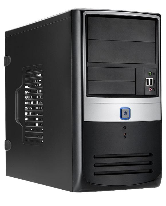 Корпус IN-WIN Inwin EMR003BS 450W черно-серебристый