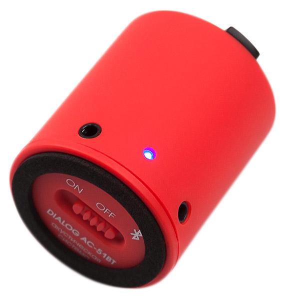 Портативная акустика Dialog AC-51BT, красная
