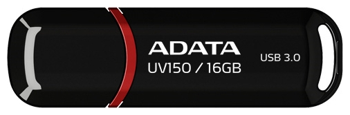 Usb-флешка ADATA DashDrive UV150 16Gb, черно-красная AUV150-16G-RBK