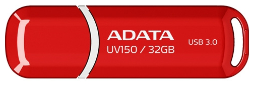 Usb-флешка ADATA DashDrive UV150 32GB, красная AUV150-32G-RRD