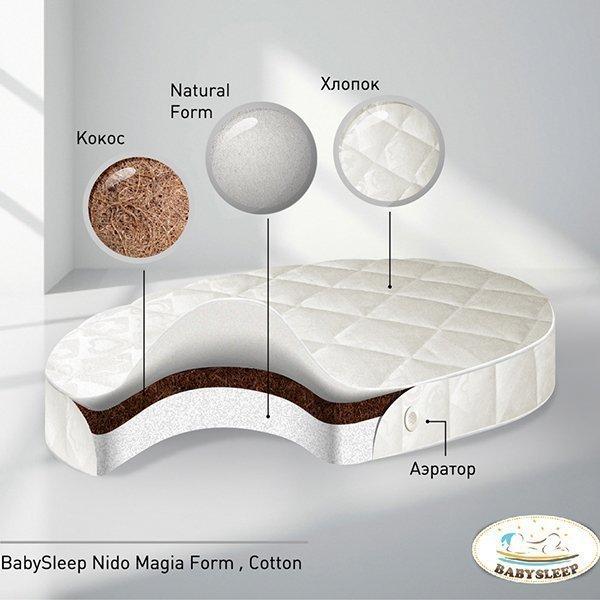 Матрас для детской кроватки Babysleep Nido Magia Form Cotton (круглый)