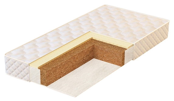 Матрас для детской кроватки Pliteks Юниор Люкс 119x60, натуральный