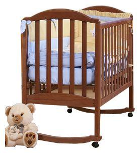 Детская кроватка Kubanlesstroy АБ 17.0. Люкс, темный орех