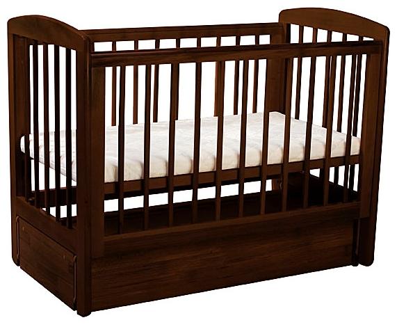 Детская кроватка Kubanlesstroy Кубаньлесстрой АБ 16.3 Ромашка, махагон