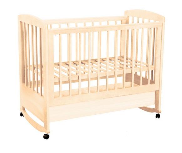 Детская кроватка Kubanlesstroy Ромашка АБ 16.1, слоновая кость