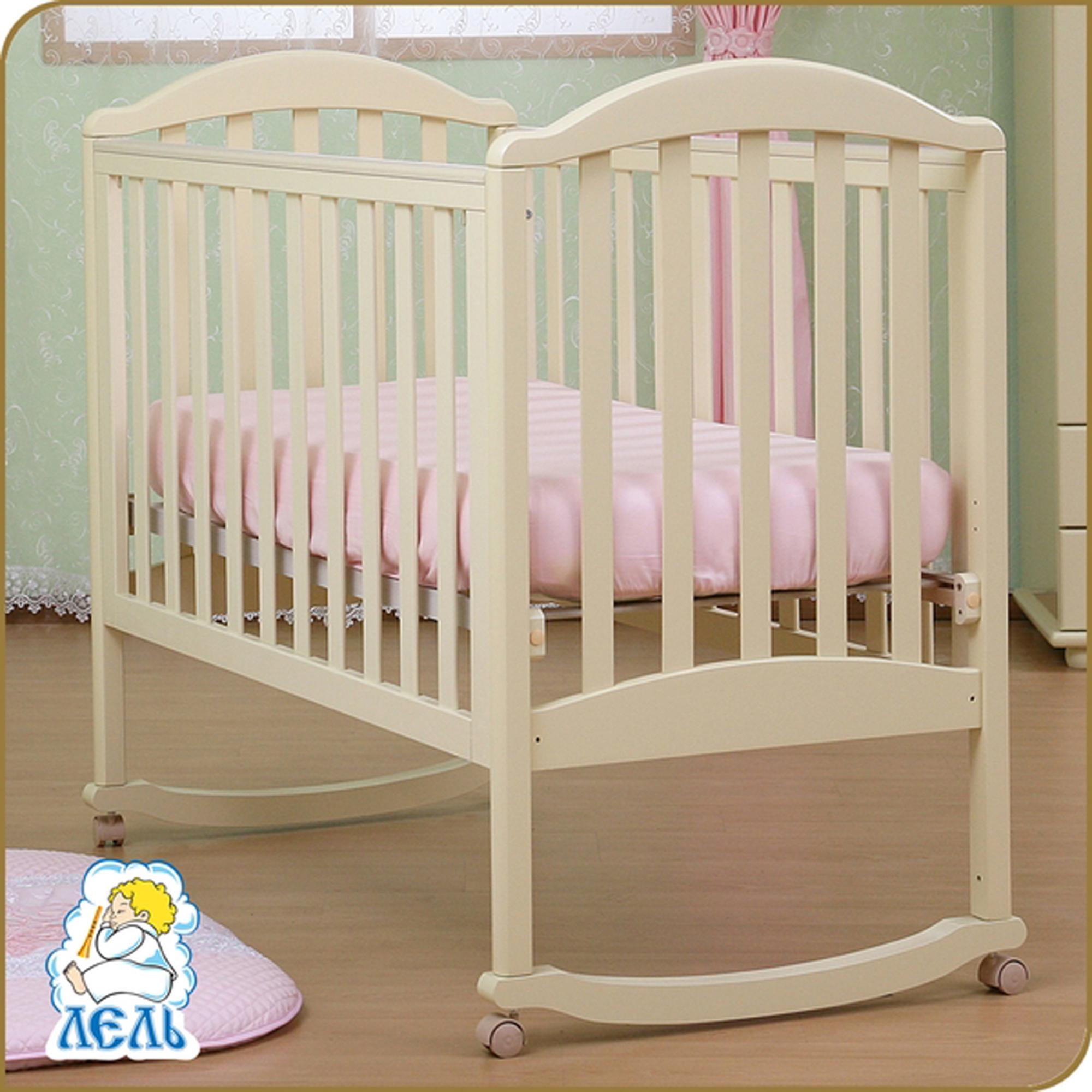 Детская кроватка Kubanlesstroy Лилия Люкс АБ 17.0, ваниль