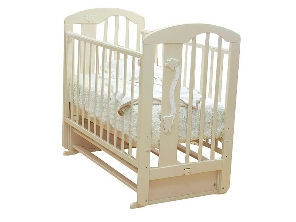 Детская кроватка Krasnaya-zvezda Агата С 718, слоновая кость