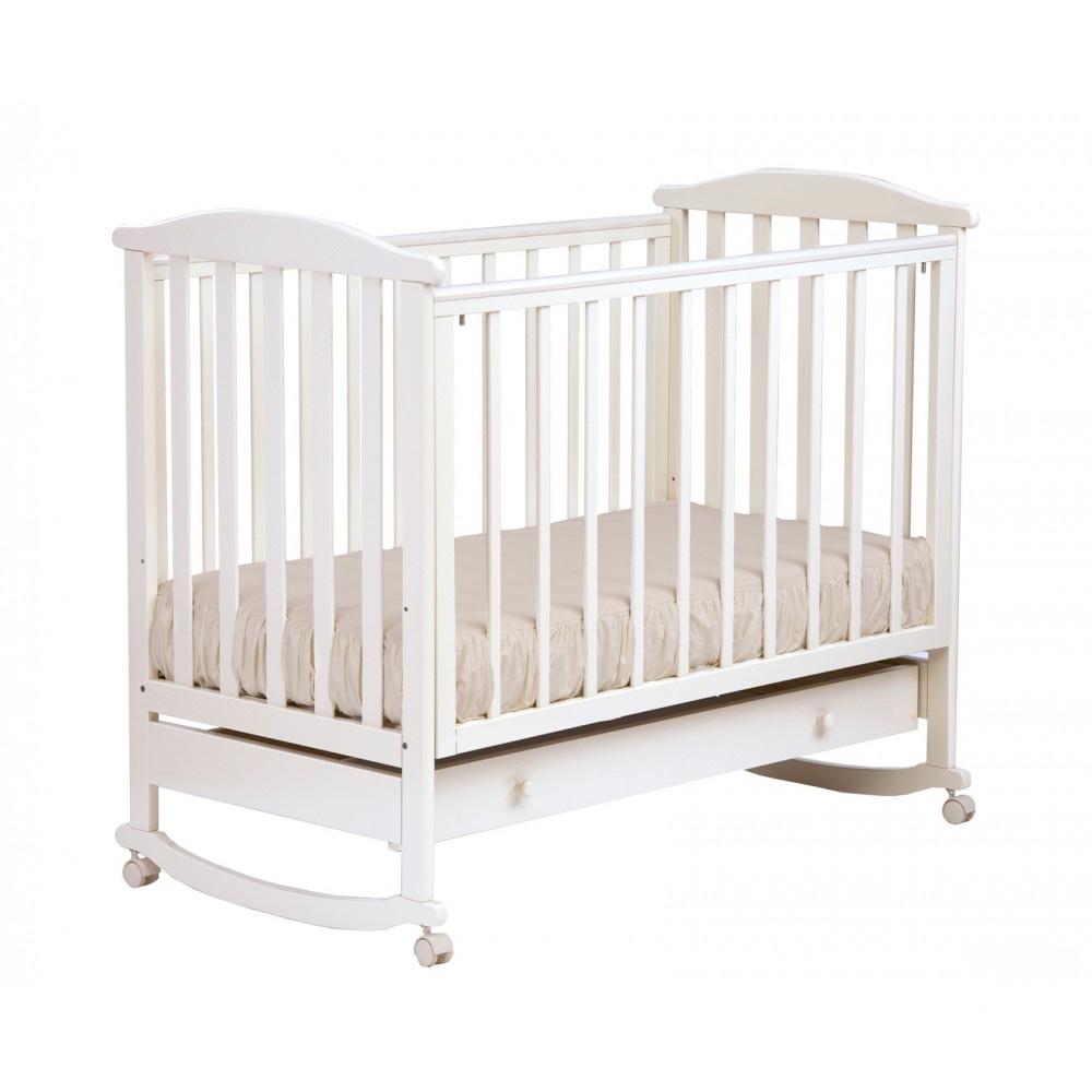 Детская кроватка Kubanlesstroy Ромашка АБ 16.1, белая