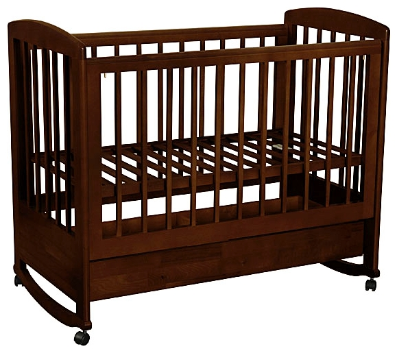 Детская кроватка Kubanlesstroy Ромашка АБ 16.1, венге