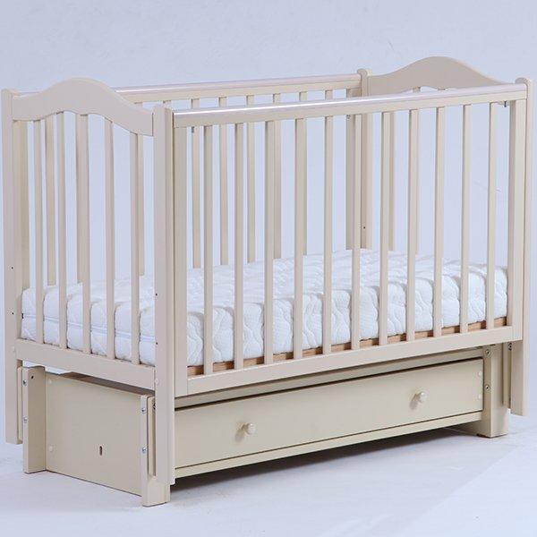 Детская кроватка Kubanlesstroy Кубаночка-1 БИ 37.3, слоновая кость