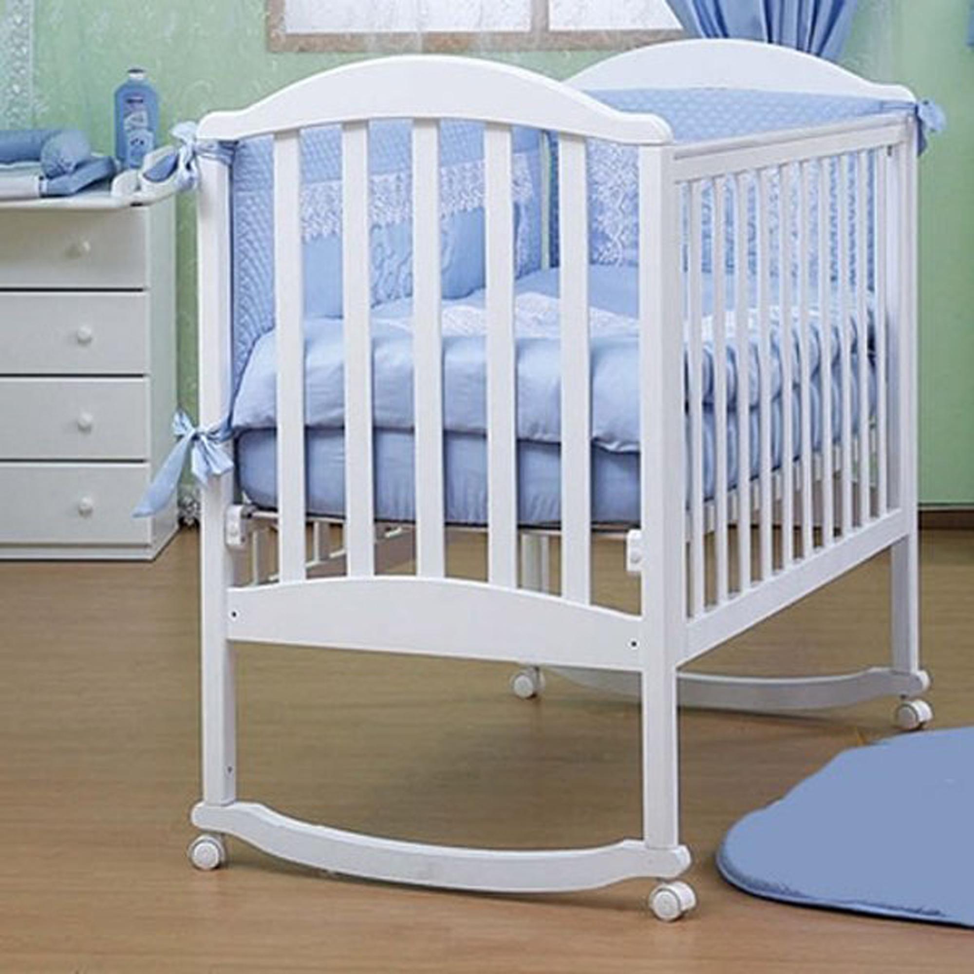 Детская кроватка Kubanlesstroy Лилия Люкс АБ 17.0, белая