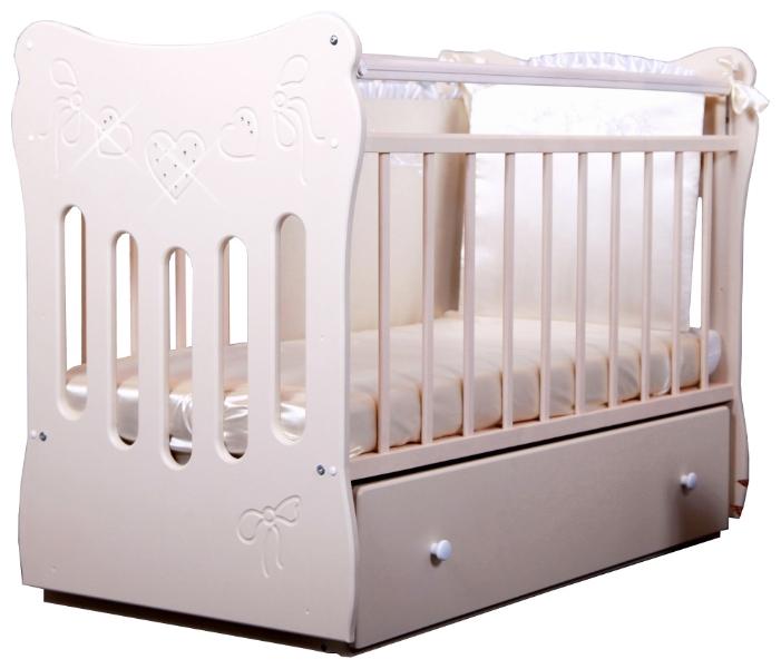 Детская кроватка Ostrovok-Uyuta Островок Уюта Бантики Слоновая Кость