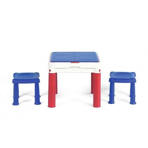 Набор игровой Столик для игр с конструктором Keter (2 табуретки) УТ000030499
