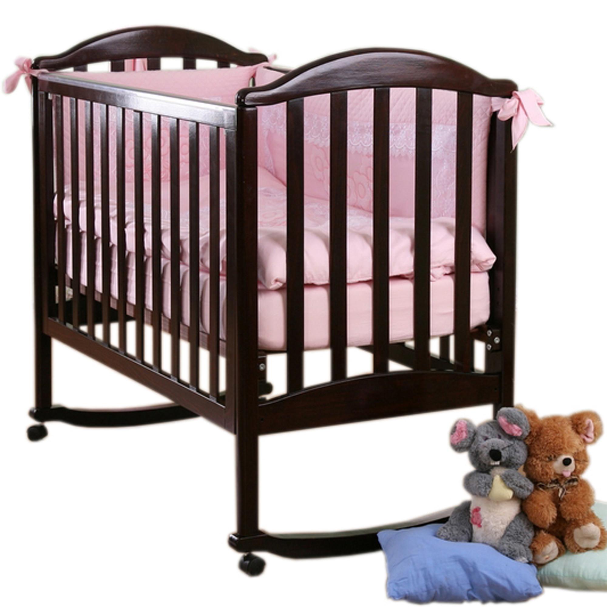 Детская кроватка Kubanlesstroy Лилия Люкс АБ 17.0, венге