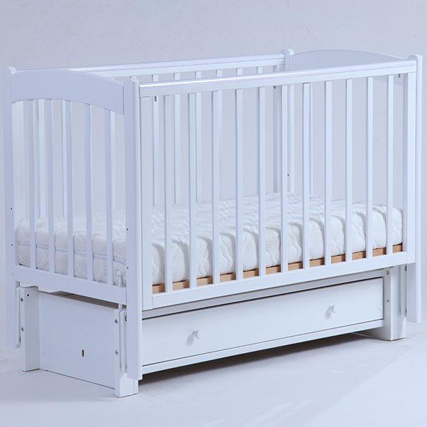 Детская кроватка Kubanlesstroy Кубаночка-3 БИ 39.3, белая