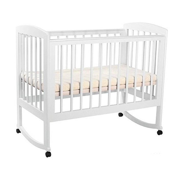 Детская кроватка Kubanlesstroy Ромашка АБ 16.0, белая