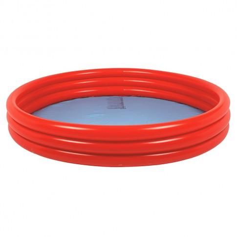 Бассейн надувной Plain Pool Jilong красный