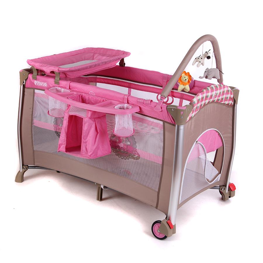 Pituso Манеж-кровать (Без капора) Pituso Flora Grils Toys Розовая