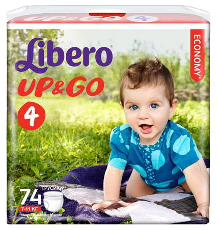 Подгузник Libero Up&Go Giga Pack (7-11 кг) 74 шт.