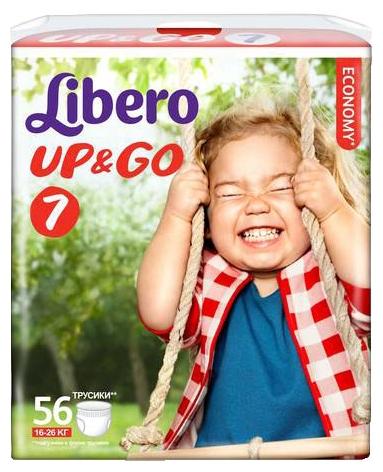 Подгузник Libero Up&Go Giga Pack (16-26 кг) 56 шт.