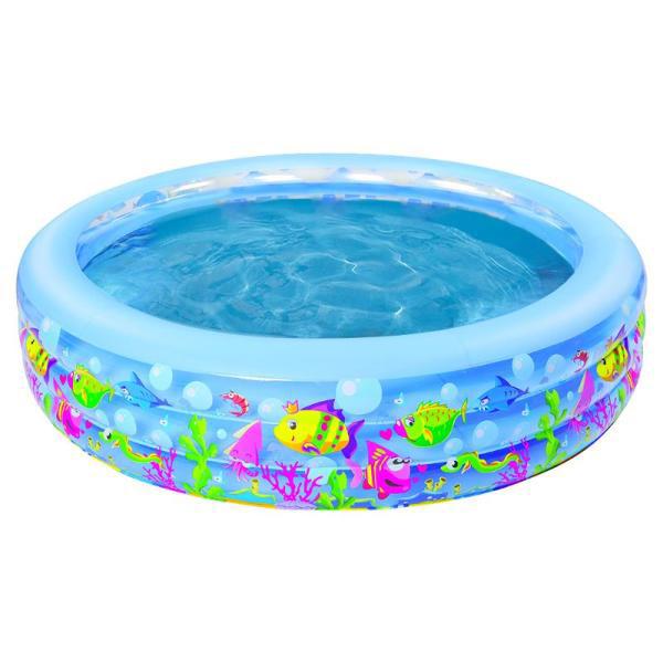 Бассейн надувной Jilong Aquarium Pool Голубой